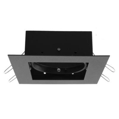 Spot de embutir móvil 1 luz AR111 Negro