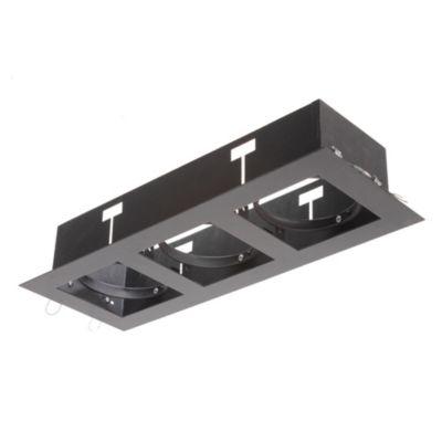 Spot de embutir móvil 3 luces AR111 Negro