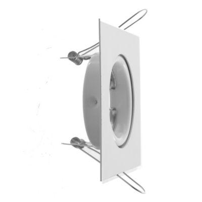 Spot de embutir cuadrado móvil 1 luz GU10 Blanco
