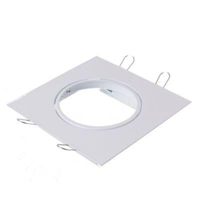 Spot de embutir cuadrado móvil 1 luz AR111 Blanco