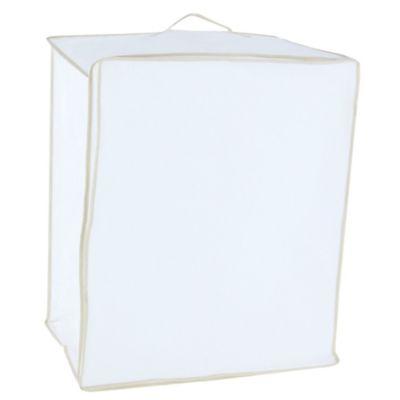 Caja organizadora de tela 50 x 60 x 35 cm blanca
