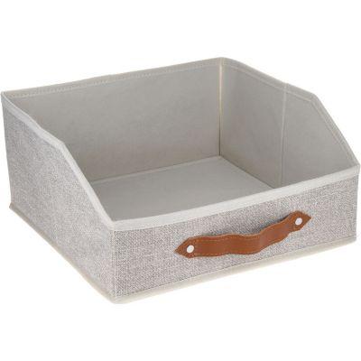 Caja organizadora de tela 30 x 30 x 15 cm basic
