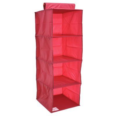 Organizador 4 niveles de tela 30 x 30 x 84 cm fucsia