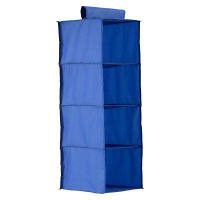 Organizador 4 niveles de tela 30 x 30 x 84 cm azul