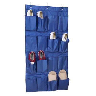 Organizador para zapatos de tela con 16 bosillos azul