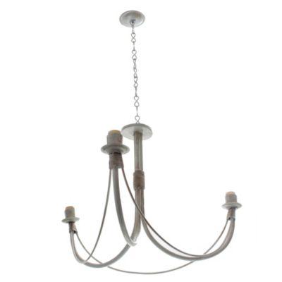 Lámpara colgante araña 3 luces Blanco