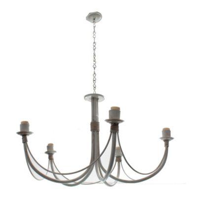 Lámpara colgante araña 5 luces Blanco