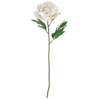 Flor artificial vara peonia blanco 63 cm