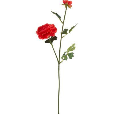 Flor artificial vara ranun rojo 54 cm