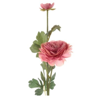 Flor artificial vara ranun rosado 54 cm
