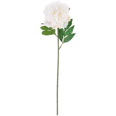 Flor artificial vara peonia crema 63 cm