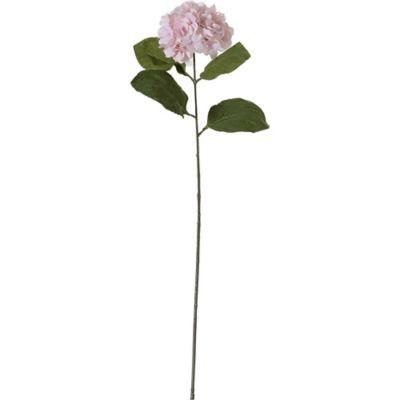 Flor artificial vara hydrangea rosa 76 cm