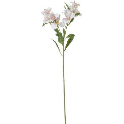 Flor artificial vara lirio crema 71 cm