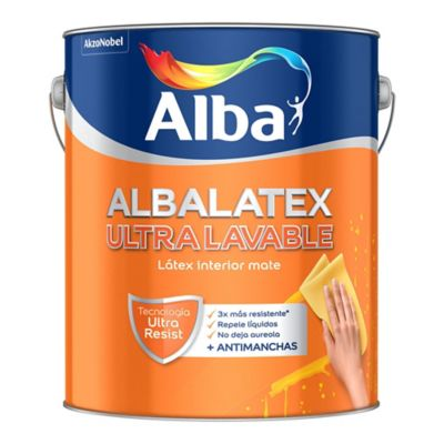Pintura látex Albalatex ultralavable blanco 1 L