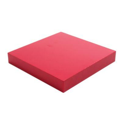 Estante flotante rojo 25 x 25 x 3.8 cm