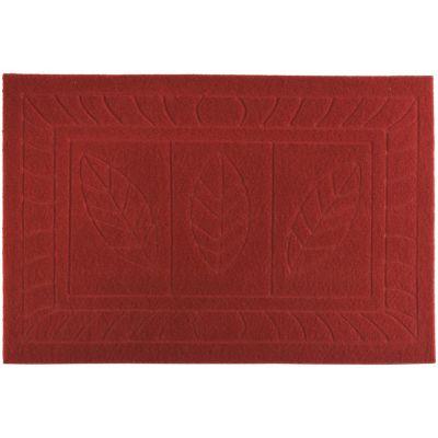 Felpudo texture 38 x 57 cm rojo