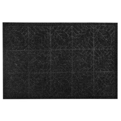 Felpudo texture hoja 38 x 57 cm negro
