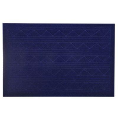 Felpudo texture 38 x 57 cm azul