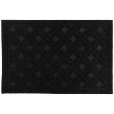 Felpudo texture 38 x 57 cm negro
