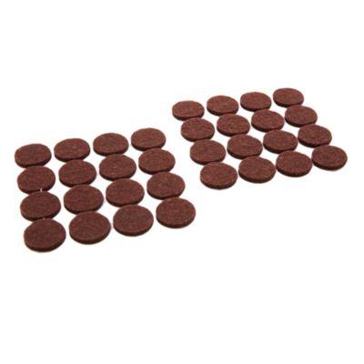 Fieltro circular 32 unidades marrón
