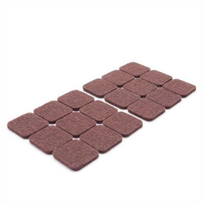 Fieltro rectangular 18 unidades marrón