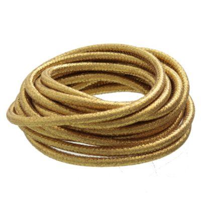 Cable Textil dorado x 5 m