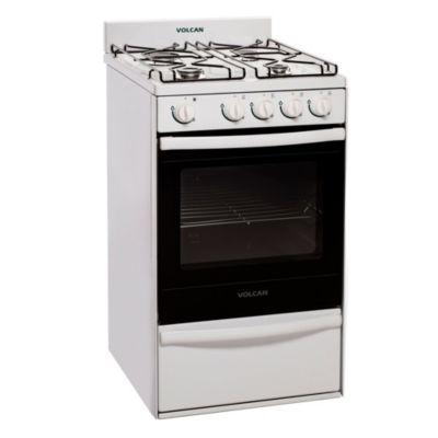 Cocina 4 hornallas blanca 50 cm