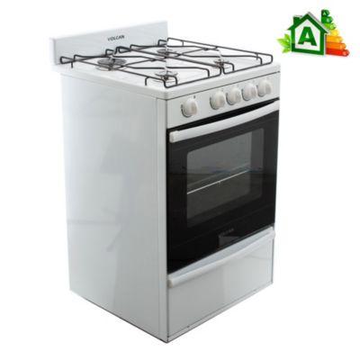 Cocina a gas blanca 4 hornallas 55 cm