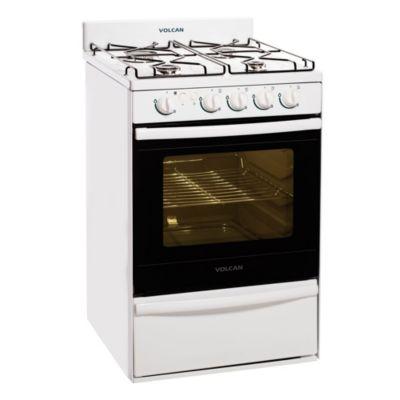 Cocina 4 hornallas blanca 55 cm con encendido eléctrico