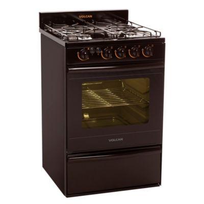 Cocina 4 hornallas marrón 55 cm con encendido eléctrico