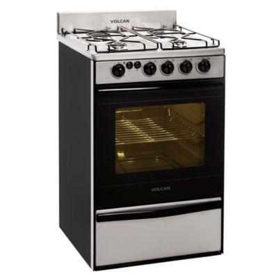 Cocina 4 hornallas acero 55 cm con encendido eléctrico