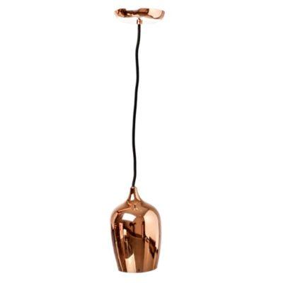 Lámpara colgante campana Lustre E27 24 W Cobre