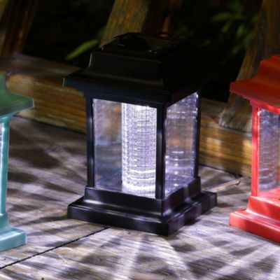 Estaca solar LED 14 cm negro