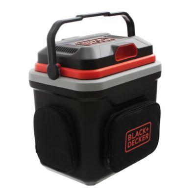 Cooler eléctrico 12 v/ 220 v 24 l negro, naranja y blanco