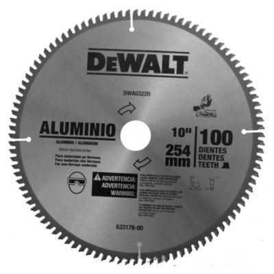 """Disco para sierra circular 254 mm 10"""" 100 dientes"""