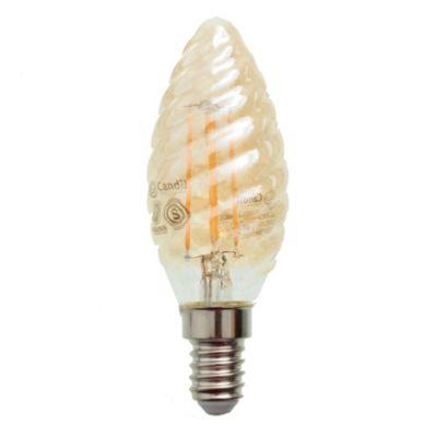 Lamparita LED Velita con filamentos E14 4 W ámbar