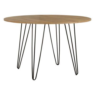 Mesa de comedor de melamina y hierro atakama