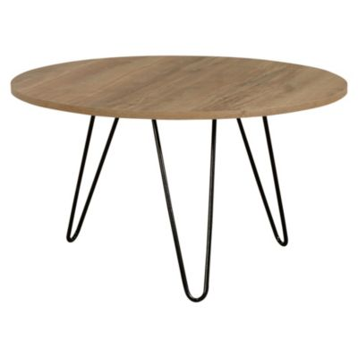 Mesa ratona de melamina y hierro redonda atakama