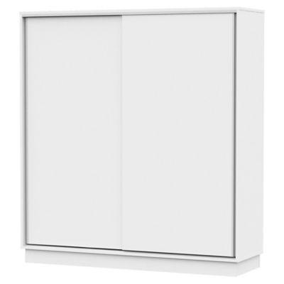 Placard 2 puertas con 2 cajones blanco