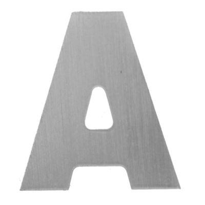 Letra A aluminio laqueado 55 x 50 mm