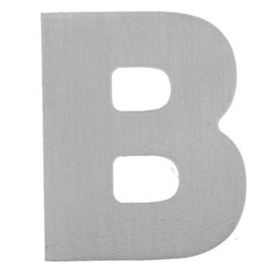 Letra B aluminio laqueado 55 x 50 mm