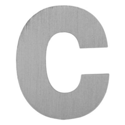 Letra C aluminio laqueado 55 x 50 mm