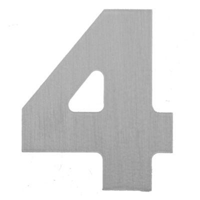 Número aluminio laqueado 4 55 x 46 mm