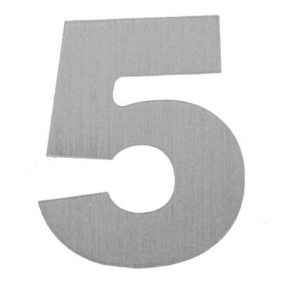 Número aluminio laqueado 5 55 x 46 mm