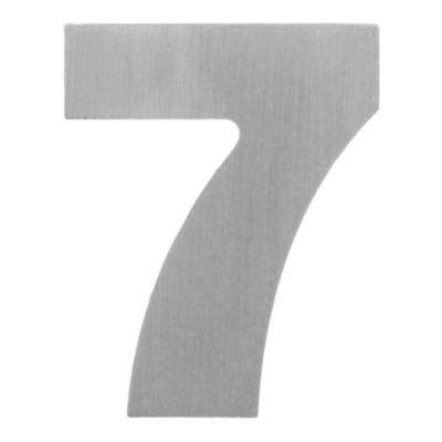 Número aluminio laqueado 7 55 x 44 mm
