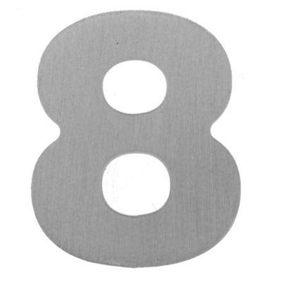 Número aluminio laqueado 8 55 x 45 mm