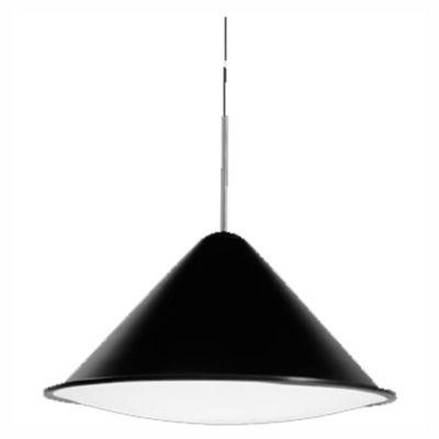 Lámpara colgante cónico aluminio tapa entera mediano