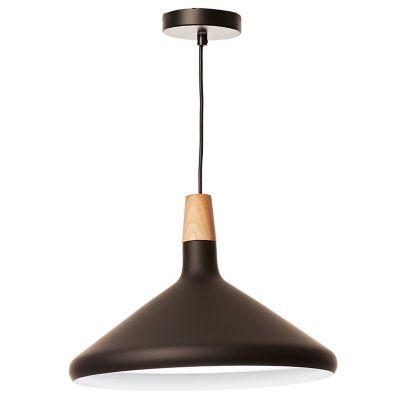 Lámpara colgante plato nórdico negro