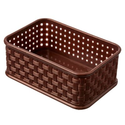Cesto de Ratán bajo rectangular chocolate