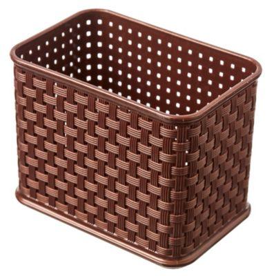 Cesto de Ratán alto rectangular chocolate